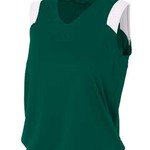 Ladies' Moisture Management V Neck Muscle Shirt